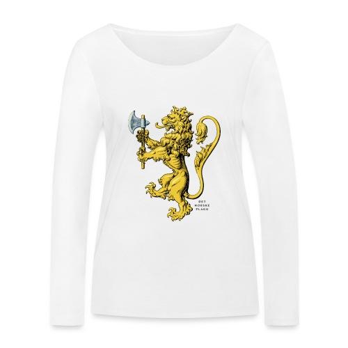 Den norske løve i gammel versjon - Økologisk langermet T-skjorte for kvinner fra Stanley & Stella