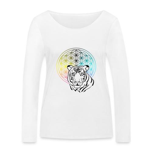 fleur de vie tigre - T-shirt manches longues bio Stanley & Stella Femme