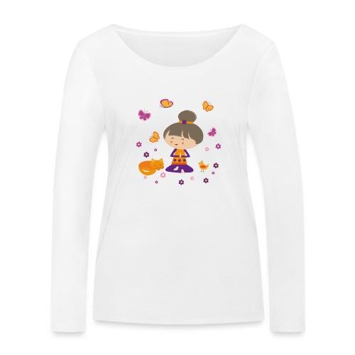 Happy Meitli - Yoga und Meditation - Frauen Bio-Langarmshirt von Stanley & Stella