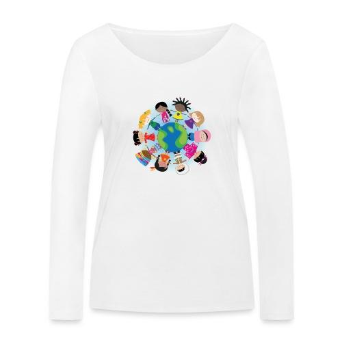 Happy Meitlis - Around the World - Frauen Bio-Langarmshirt von Stanley & Stella