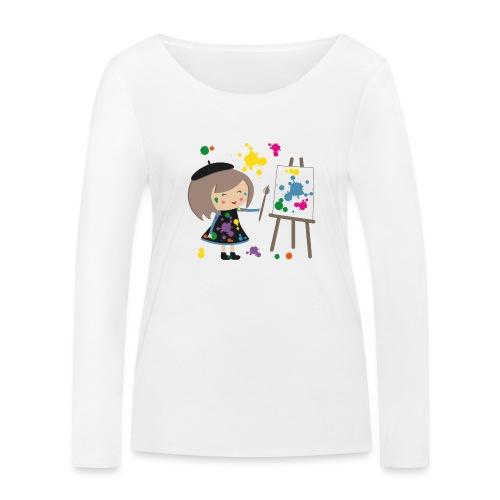 Happy Meitli - Künstlerin - Frauen Bio-Langarmshirt von Stanley & Stella