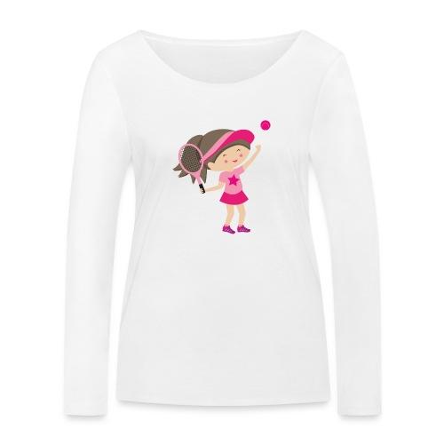 Happy Meitlis - Tennis Mädchen - Frauen Bio-Langarmshirt von Stanley & Stella