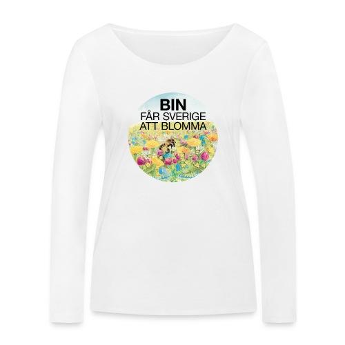 Bin får Sverige att blomma - Ekologisk långärmad T-shirt dam från Stanley & Stella