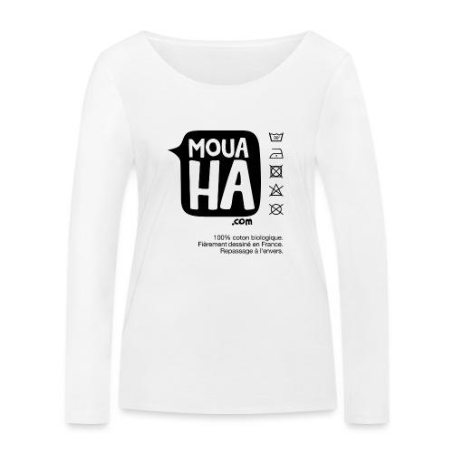 MOUAHA étiquette - T-shirt manches longues bio Stanley & Stella Femme