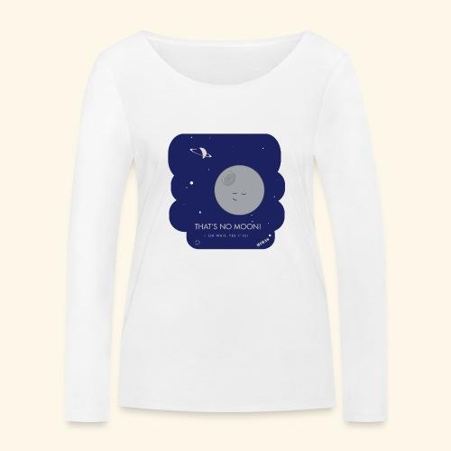 Mimas - Thats no moon - Ekologisk långärmad T-shirt dam från Stanley & Stella