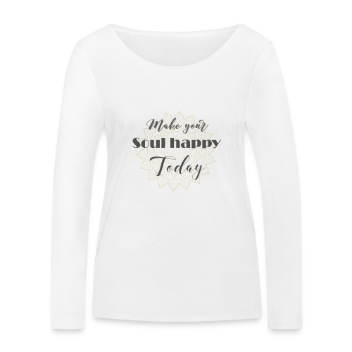 Make your soul happy today - grey mandala - Frauen Bio-Langarmshirt von Stanley & Stella