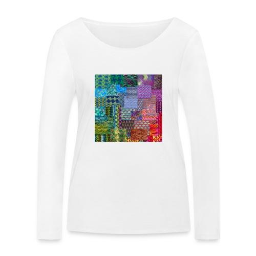 Knitting a rainbow - Ekologisk långärmad T-shirt dam från Stanley & Stella