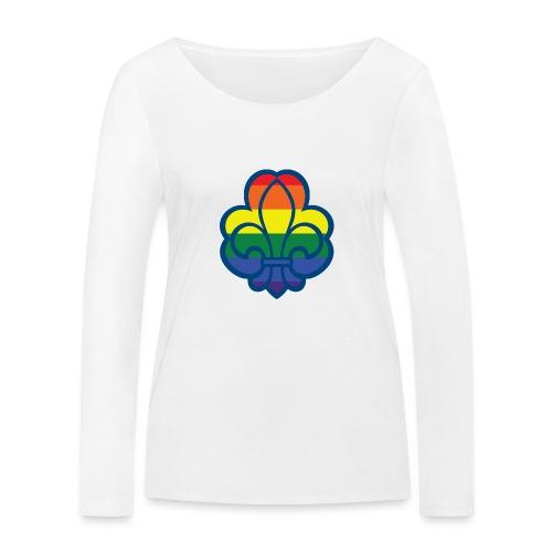 Regnbuespejder hvide t-shirts - Økologisk Stanley & Stella langærmet T-shirt til damer
