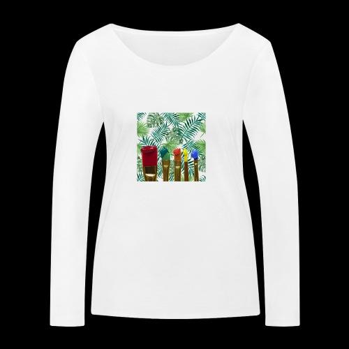 couleurs chauds des tropiques - T-shirt manches longues bio Stanley & Stella Femme