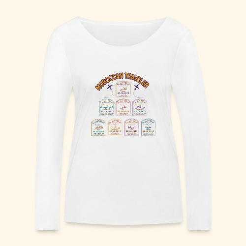 Moroccan Traveler - T-shirt manches longues bio Stanley & Stella Femme