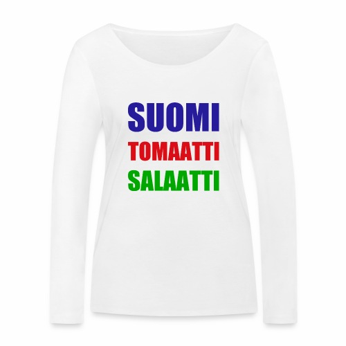 SUOMI SALAATTI tomater - Økologisk langermet T-skjorte for kvinner fra Stanley & Stella