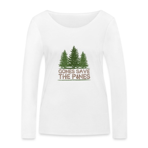 Gones save the pines - T-shirt manches longues bio Stanley & Stella Femme