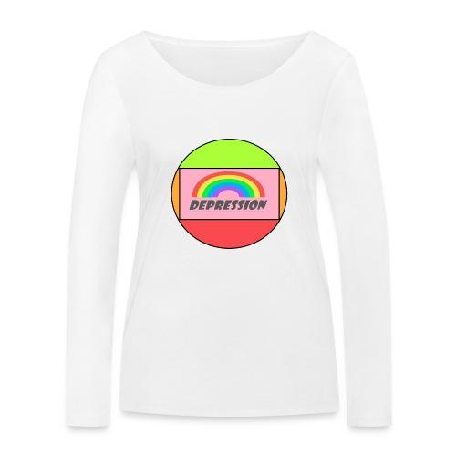 Depressed design - Women's Organic Longsleeve Shirt by Stanley & Stella