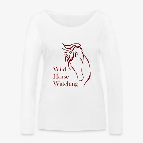 Logo Aveto Wild Horses - Maglietta a manica lunga ecologica da donna di Stanley & Stella