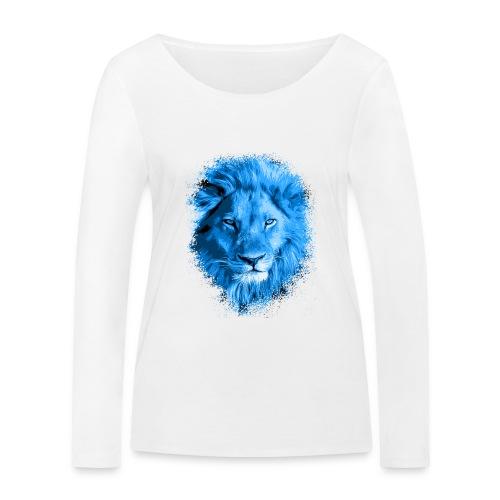 Löwe blau - Frauen Bio-Langarmshirt von Stanley & Stella