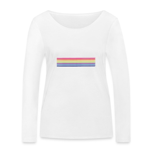 Colored lines - Women's Organic Longsleeve Shirt by Stanley & Stella