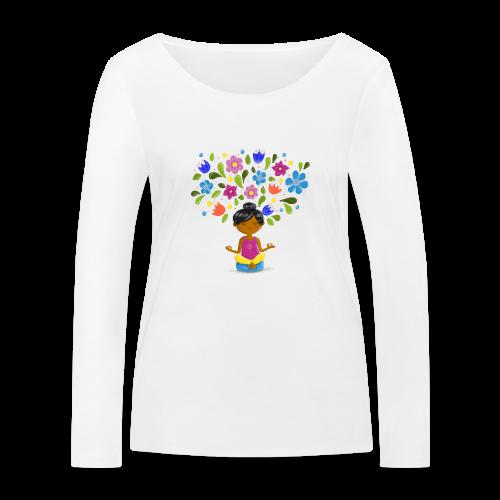 Meditation - Gedanken formen Deine Welt - Frauen Bio-Langarmshirt von Stanley & Stella