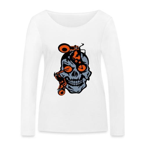 tete mort moto motrocycle oeil skull - T-shirt manches longues bio Stanley & Stella Femme