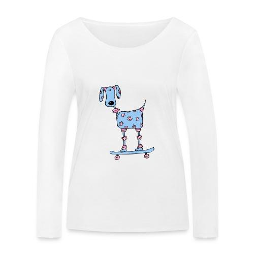 afbeelding skatehondokok - Vrouwen bio shirt met lange mouwen van Stanley & Stella
