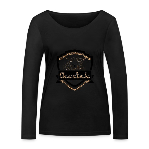 Cheetah Shield - Women's Organic Longsleeve Shirt by Stanley & Stella