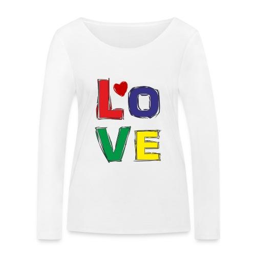 LOVE - Frauen Bio-Langarmshirt von Stanley & Stella
