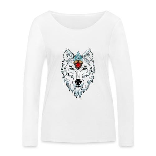 female wolf newschool - T-shirt manches longues bio Stanley & Stella Femme