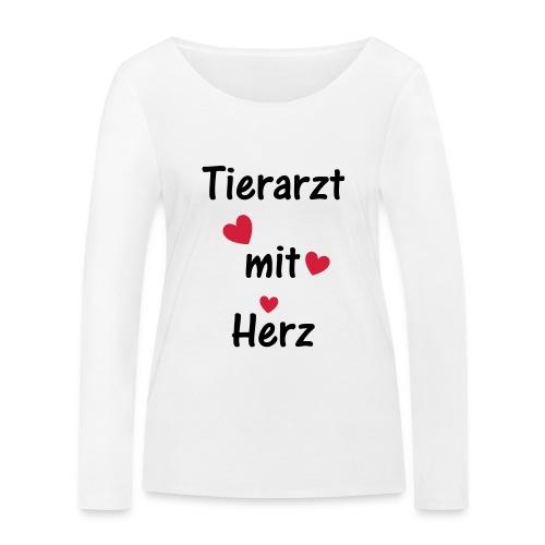 Tierarzt mit Herz - Frauen Bio-Langarmshirt von Stanley & Stella