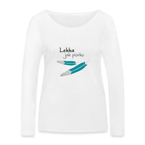Lekka jak piórko - Ekologiczna koszulka damska z długim rękawem Stanley & Stella