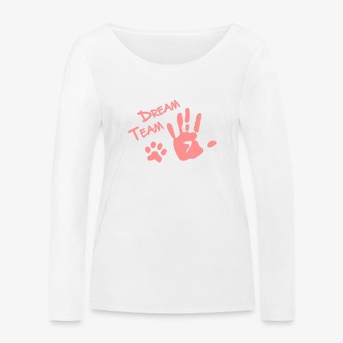 Dream Team Hand Hundpfote - Frauen Bio-Langarmshirt von Stanley & Stella