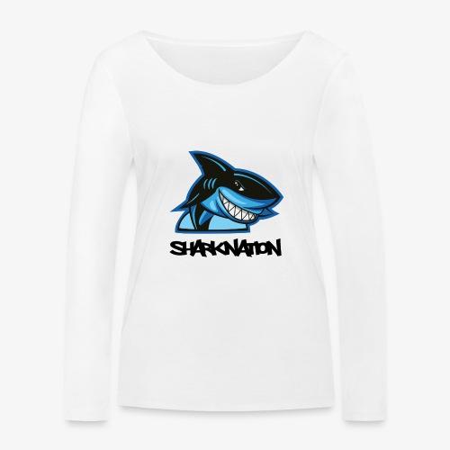 SHARKNATION / Black Letters - Vrouwen bio shirt met lange mouwen van Stanley & Stella