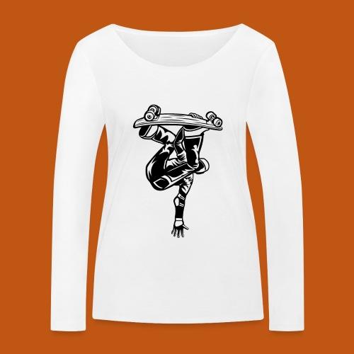 Skater / Skateboarder 03_schwarz - Frauen Bio-Langarmshirt von Stanley & Stella