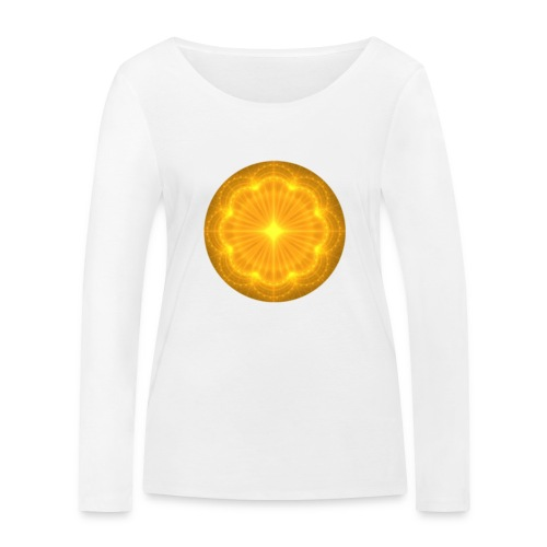 Golden Radiance Mandala Heart - Vrouwen bio shirt met lange mouwen van Stanley & Stella