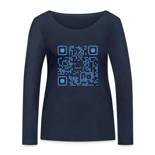 QR Maidsafe.net - Women's Organic Longsleeve Shirt by Stanley & Stella