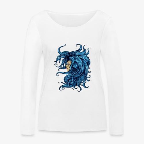 Dame dans le bleu - T-shirt manches longues bio Stanley & Stella Femme