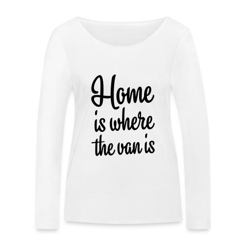 camperhome01b - Økologisk langermet T-skjorte for kvinner fra Stanley & Stella