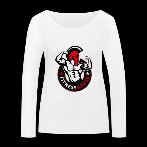 FitnessBauer in Rot - Frauen Bio-Langarmshirt von Stanley & Stella