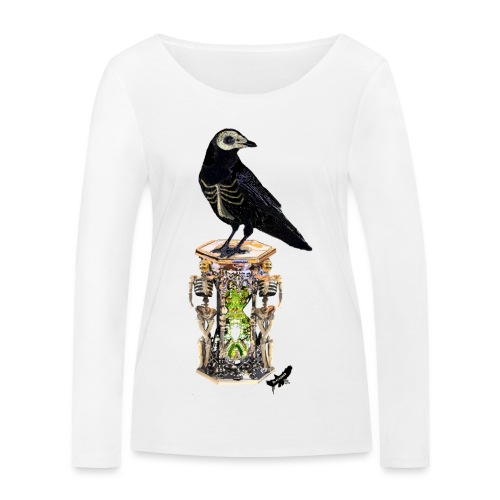 'Memento Mori' by BlackenedMoonArts - Økologisk Stanley & Stella langærmet T-shirt til damer