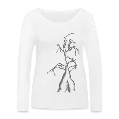 Die Zerrissenheit in grau - Frauen Bio-Langarmshirt von Stanley & Stella