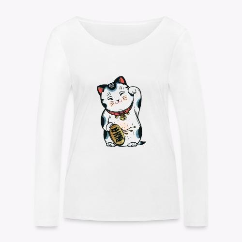 The Lucky Cat - Women's Organic Longsleeve Shirt by Stanley & Stella