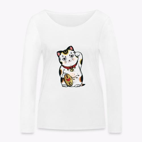 Love Lucky Cat - Women's Organic Longsleeve Shirt by Stanley & Stella