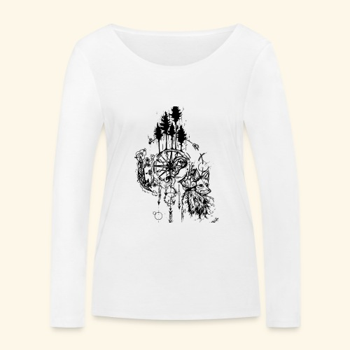 renard nature - T-shirt manches longues bio Stanley & Stella Femme