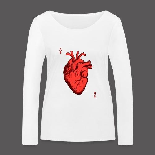 Herz Ass - Frauen Bio-Langarmshirt von Stanley & Stella