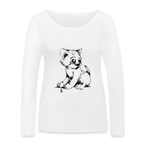 Chaton - T-shirt manches longues bio Stanley & Stella Femme