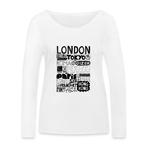 Villes du monde - T-shirt manches longues bio Stanley & Stella Femme