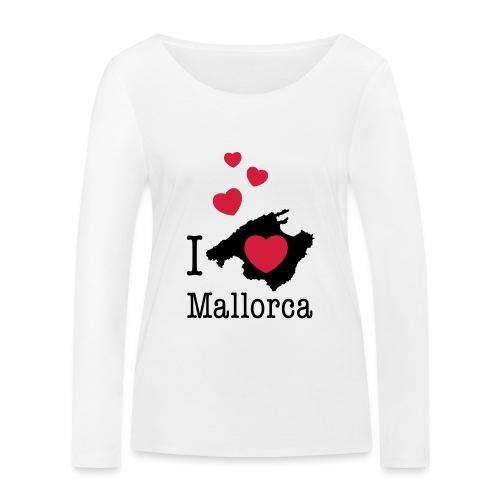 love Mallorca Balearen Spanien Ferieninsel Urlaub - Women's Organic Longsleeve Shirt by Stanley & Stella