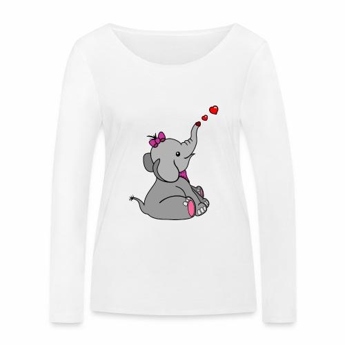 Elefant - Frauen Bio-Langarmshirt von Stanley & Stella
