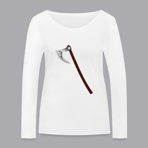 Wikinger Beil - Frauen Bio-Langarmshirt von Stanley & Stella