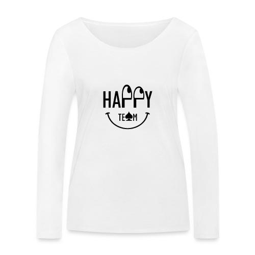 Happy Team - Maglietta a manica lunga ecologica da donna di Stanley & Stella