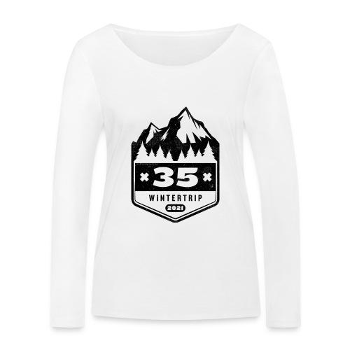 35 ✕ WINTERTRIP ✕ 2021 • BLACK - Vrouwen bio shirt met lange mouwen van Stanley & Stella