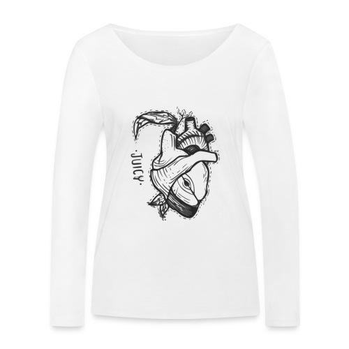 Apple Heart B - Camiseta de manga larga ecológica mujer de Stanley & Stella